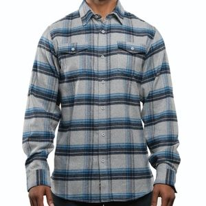 Burnside Small Yarn Dyed Long Sleeve Flannel Shirt